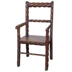 Oak Rope Chair