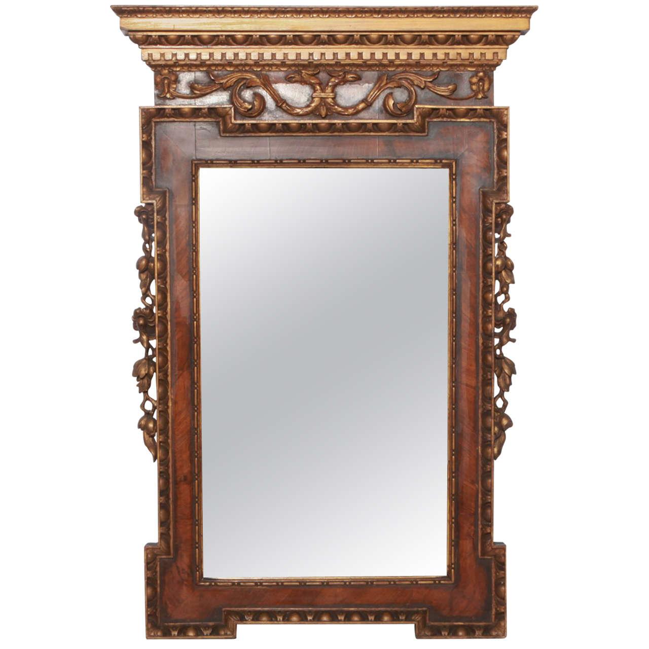 20th Century English William Kent Style Mirror