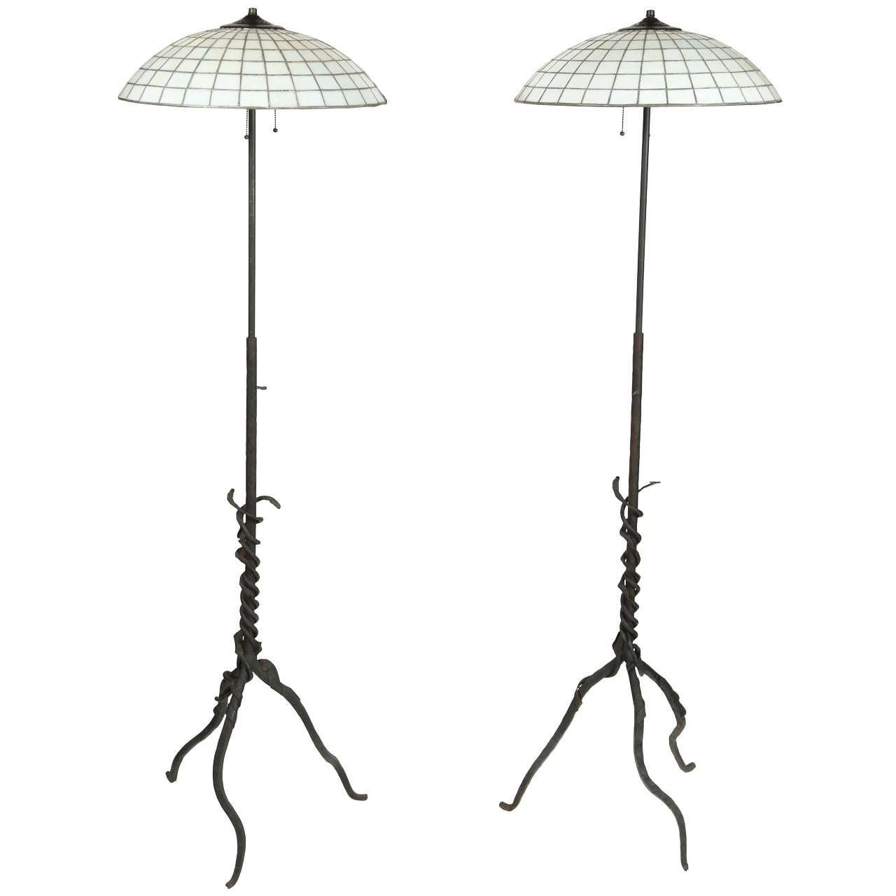 arts and crafts style floor lamp at 1stdibs. Black Bedroom Furniture Sets. Home Design Ideas