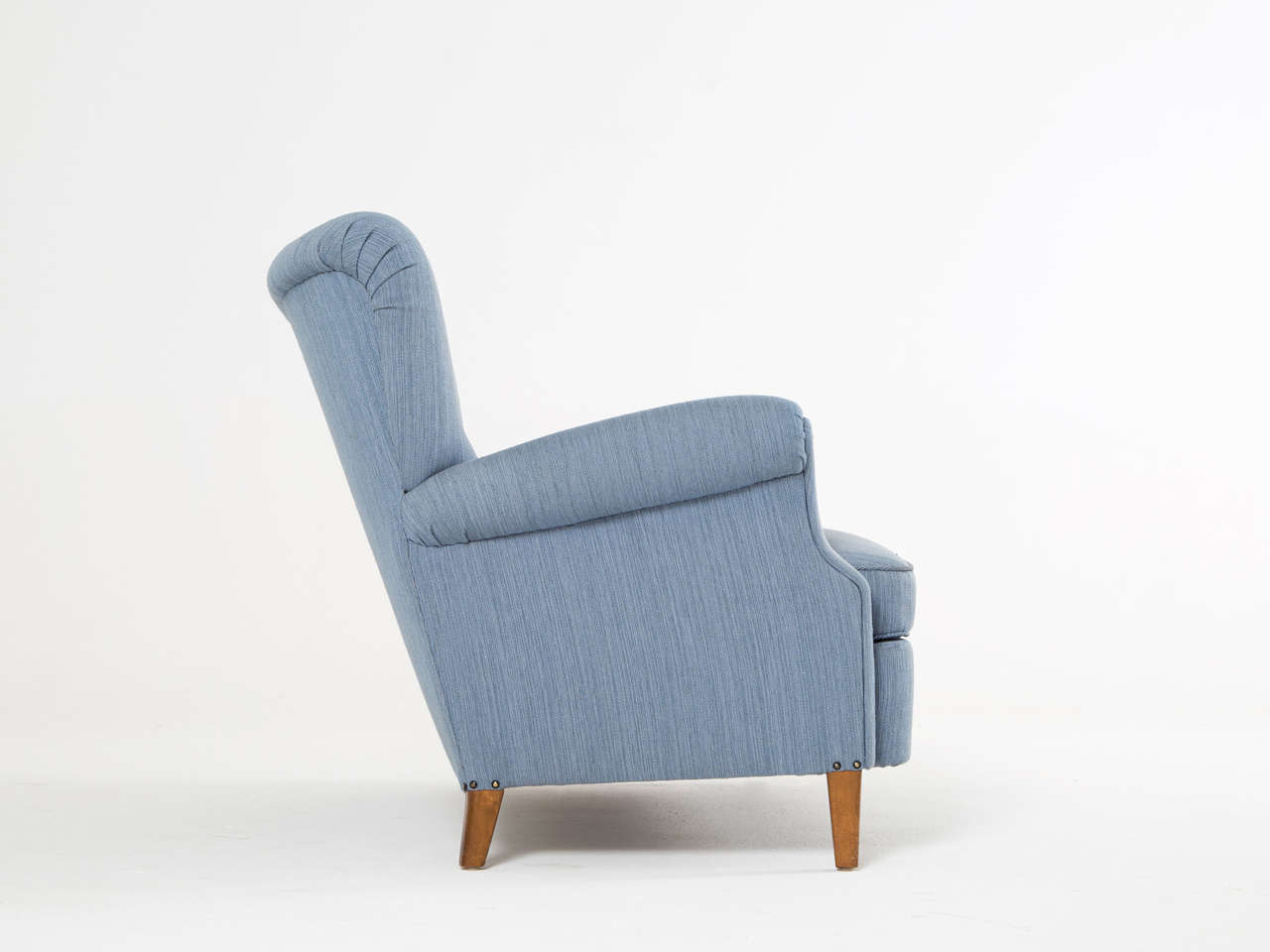 Danish Swedish Blue Two-Seat Sofa, 1950s For Sale