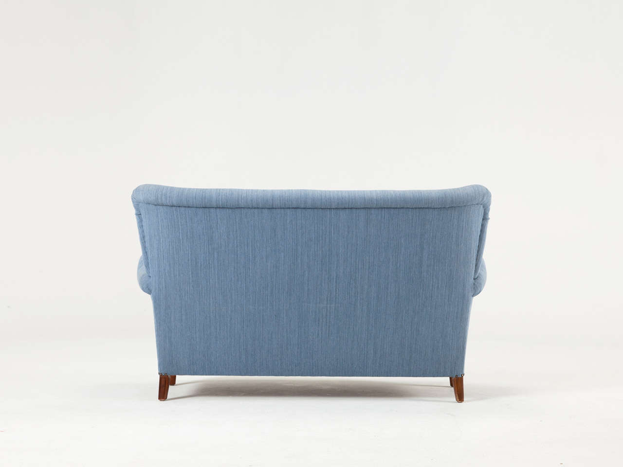 Swedish Blue Two-Seat Sofa, 1950s In Good Condition For Sale In Waalwijk, NL