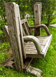Handmade Oak Gliding Chair thumbnail 7