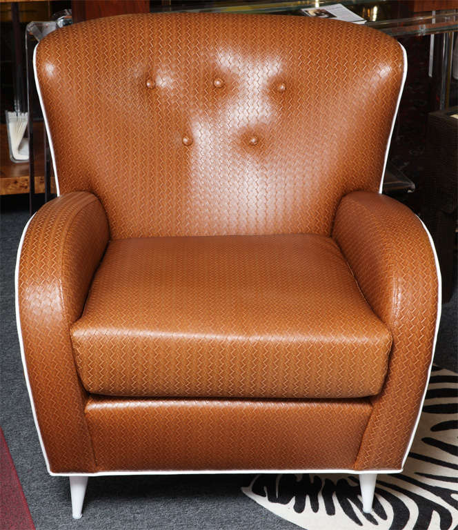 All aspects of the chair can be customized COM available piping, color of legs etc. We can also work with nailheads