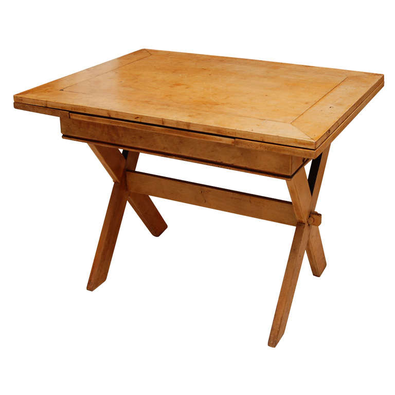 American Trestle Table In Maple At 1stdibs