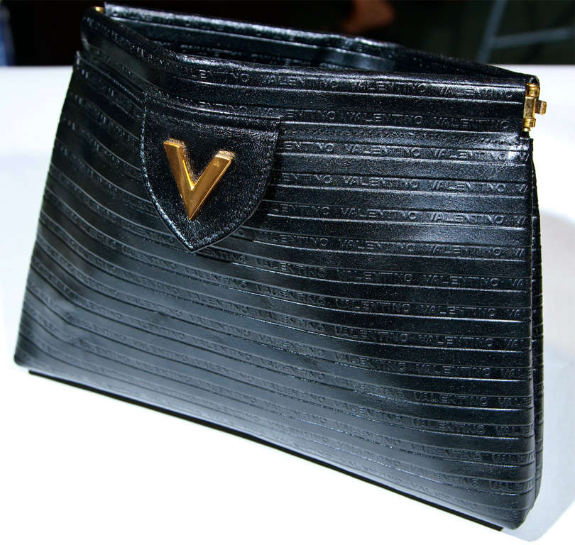 Valentino Textured Leather 'V' Logo Clutch* presented by funkyfinders 2