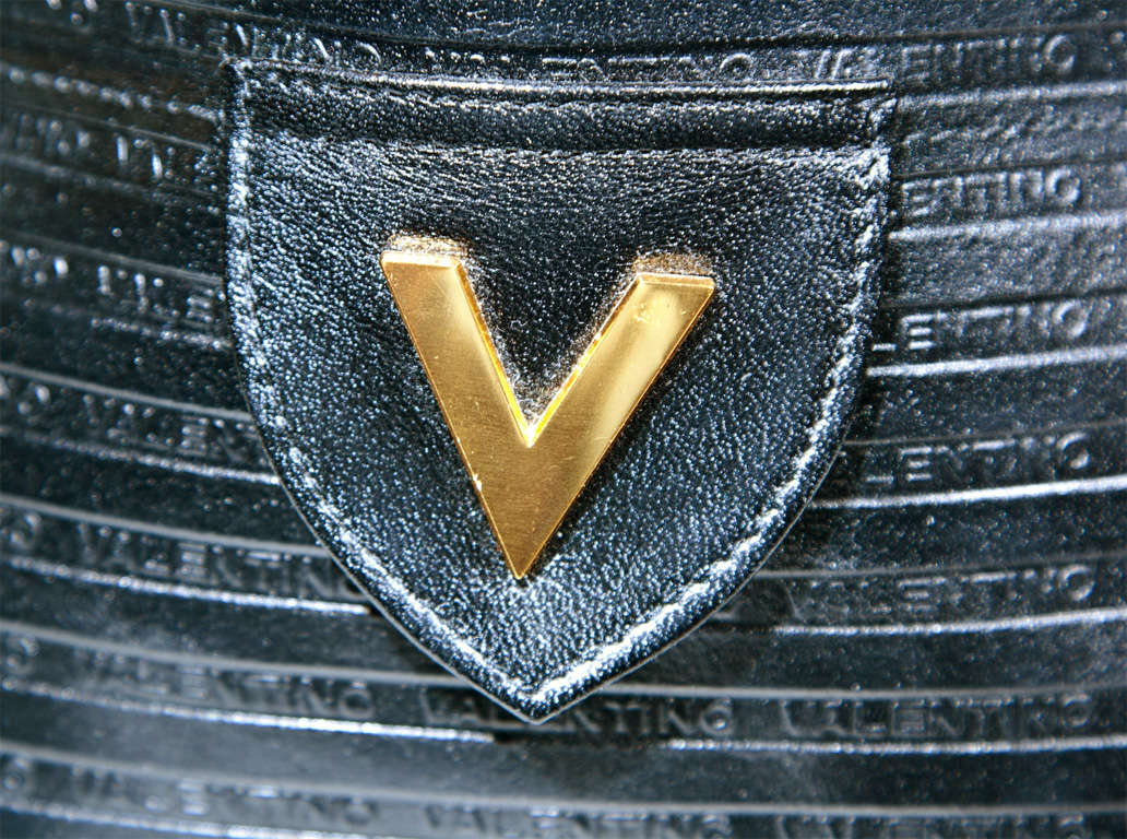 Valentino Textured Leather 'V' Logo Clutch* presented by funkyfinders 3