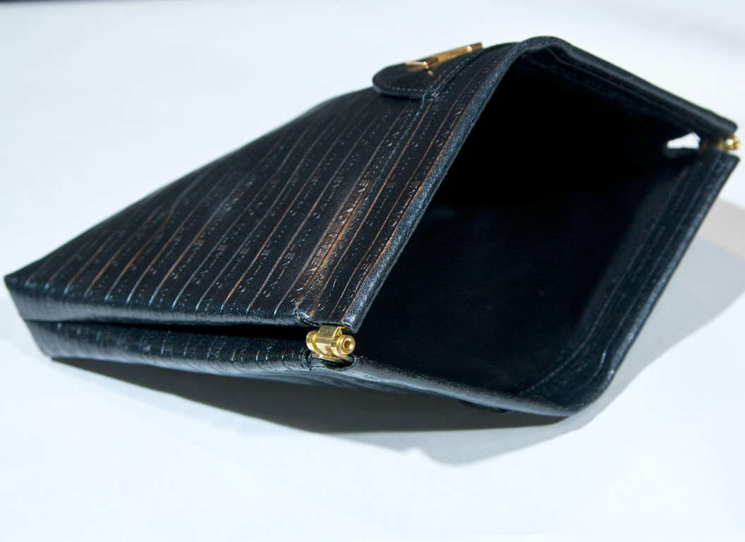 Valentino Textured Leather 'V' Logo Clutch* presented by funkyfinders 8