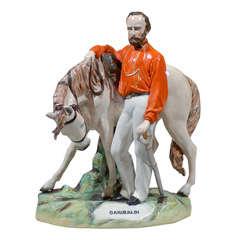 Large Staffordshire Garibaldi with Horse