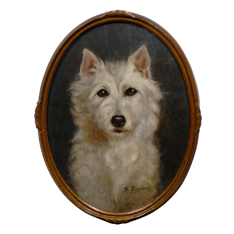 Oil Painting of  Dog