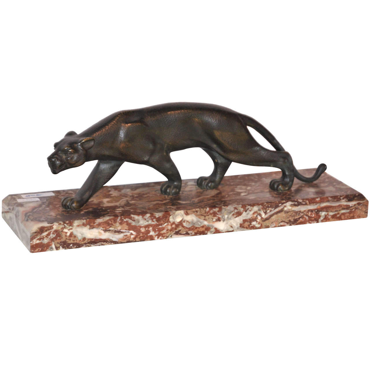 1930s Sculpture of a Striding Panther by S. Melani