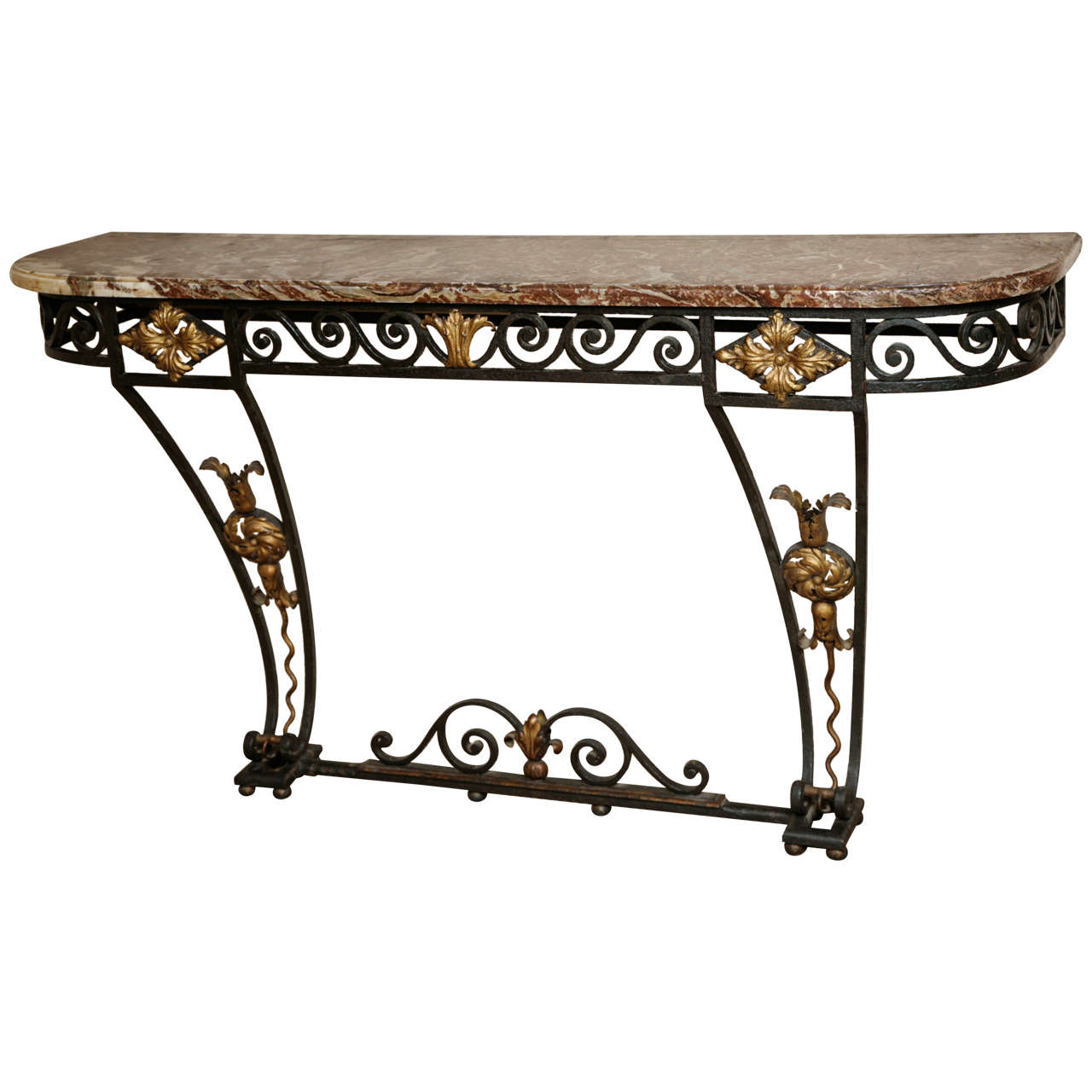 Great A Cast Iron Console Table Circa 1850 1