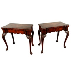 English Games Tables with Needlepoint Interiors
