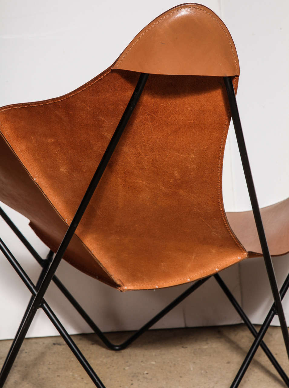 Mid-20th Century single Knoll style Hardoy Butterfly Chair