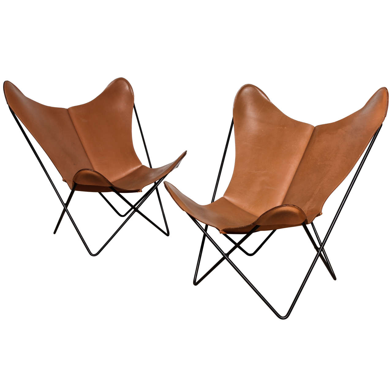 Single Knoll Style Hardoy Butterfly Chair For Sale