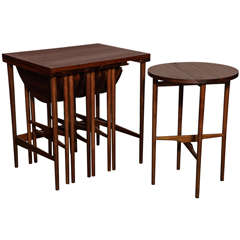 Bertha Schaefer Side Table with set of 4 Occasional Tables