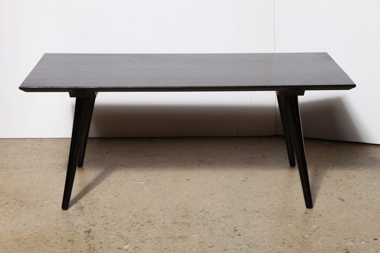923446d948393 American Mid Century Paul McCobb Planner Group Black Lacquer Coffee Table  For Sale