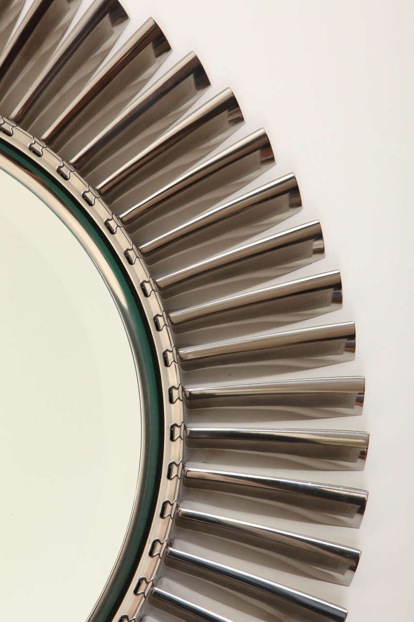 Large Mirror Made Of Aluminum Airplane Fan Blades At 1stdibs