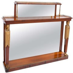 Regency Rosewood and Gilt Console Table