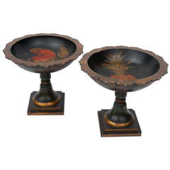 19th Century Pair of French Tazzas or Urns