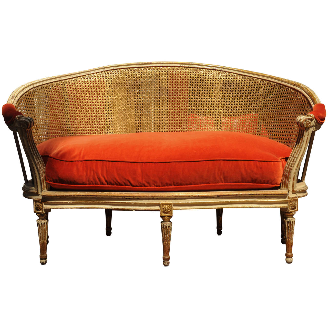 French louis xvi sofa at 1stdibs for French divan chair