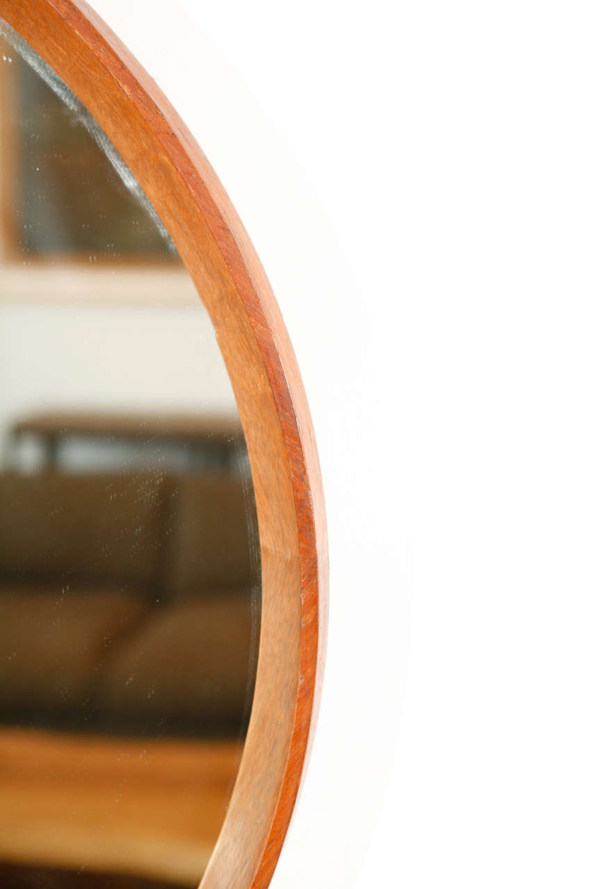 This italian circular wooden wall mirror is no longer available - Italian Wood Framed Round Wall Mirror Large 3