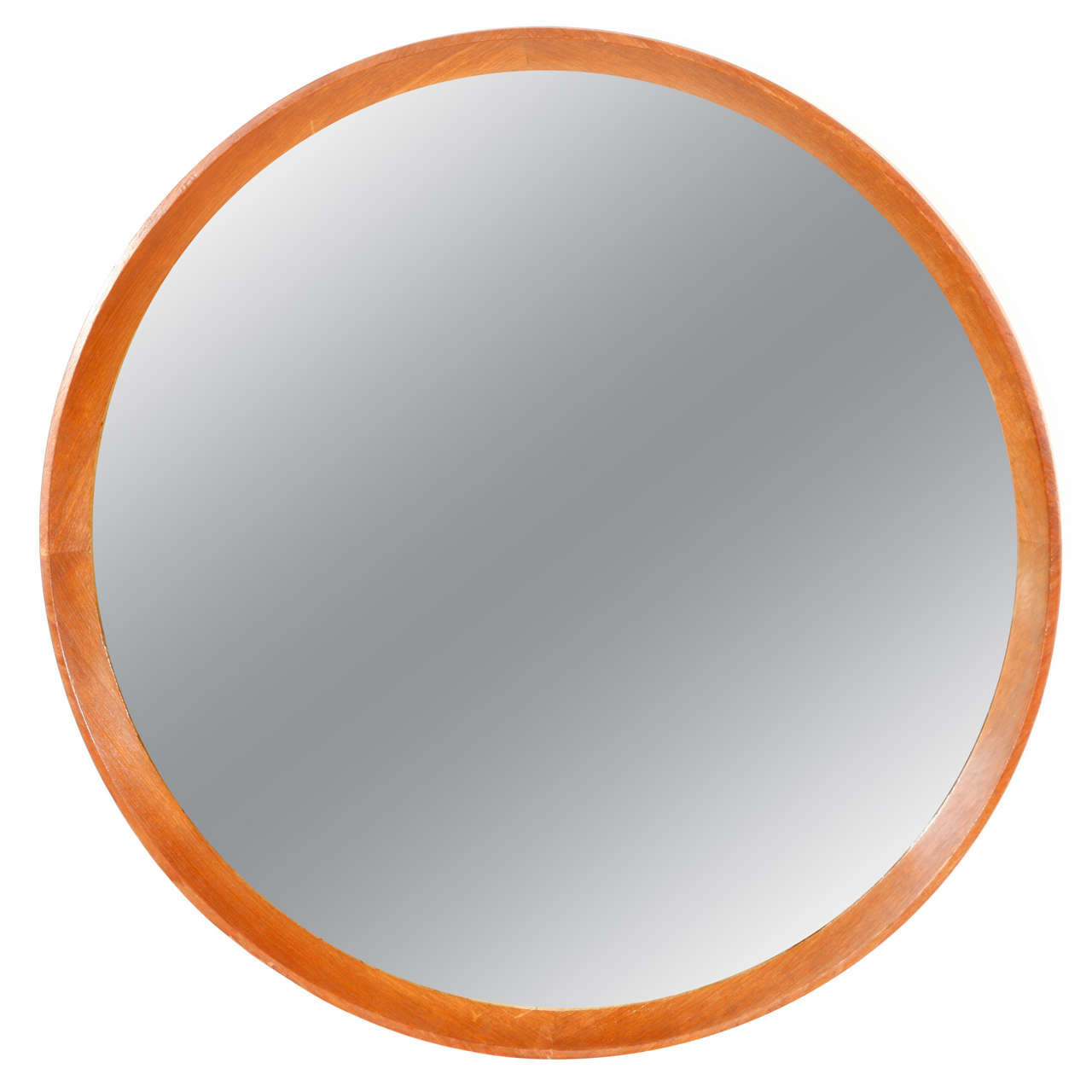 This italian circular wooden wall mirror is no longer available - Italian Wood Framed Round Wall Mirror Large 1
