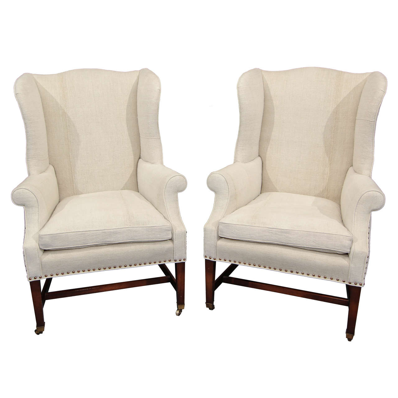 Pair Wingback Chairs At 1stdibs