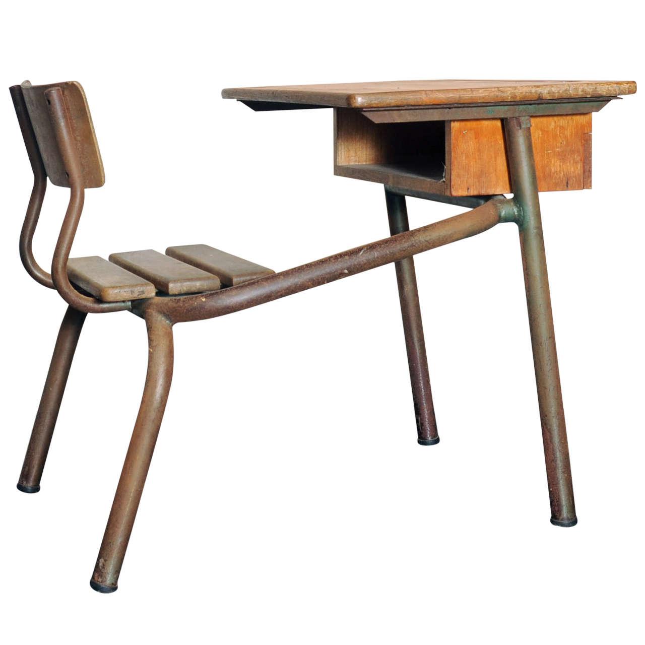 Desk Bureau Dcole Possibly Jean Prouv For Sale at 1stdibs