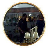 French Round Beveled Mirror