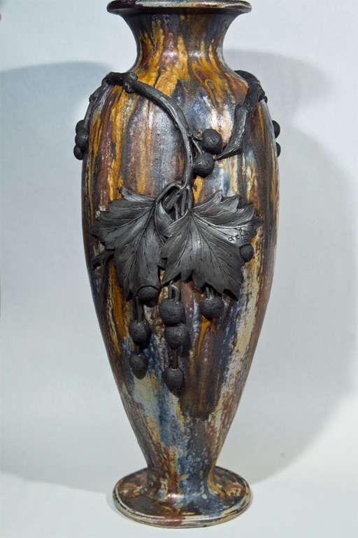 Roger Guerin Pottery Vase At 1stdibs