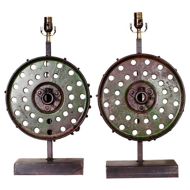 Pair Of Industrial Lamps At 1stdibs