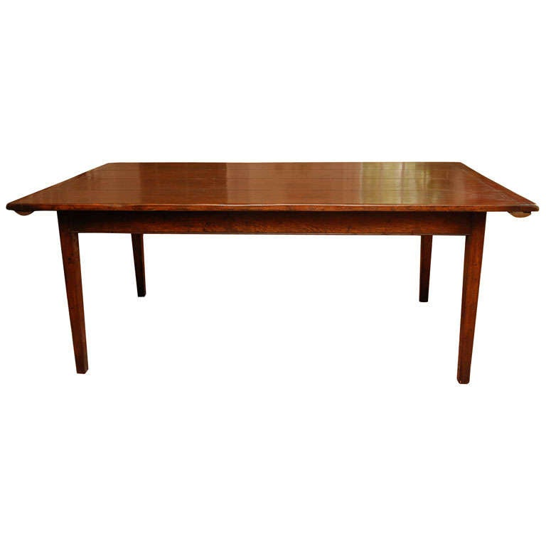 Reproduction Farm Dining Table In Oak At 1stdibs