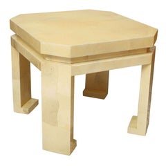 Large Enrique Garces Parchment End Table