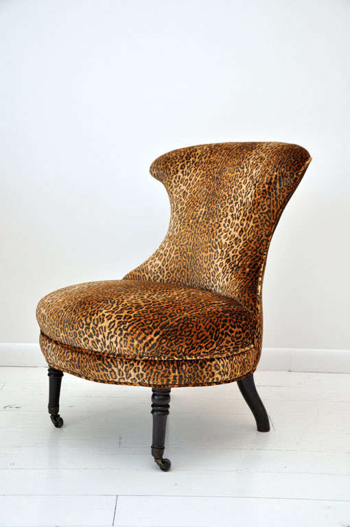 Victorian Leopard Slipper Chair 2