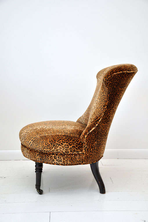 Victorian Leopard Slipper Chair image 4
