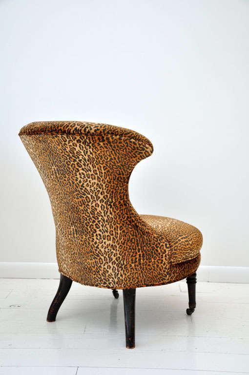 Victorian Leopard Slipper Chair image 6
