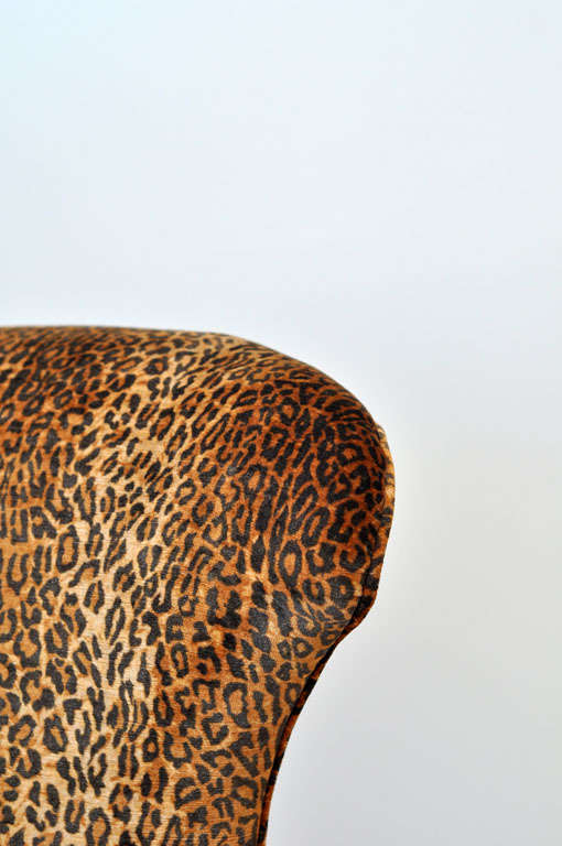 Victorian Leopard Slipper Chair 8