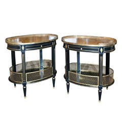 Pair of Jansen End Tables with Gallery