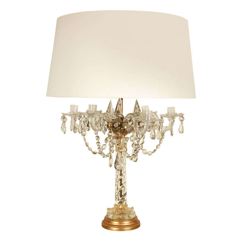 large crystal and murano table lamp at 1stdibs. Black Bedroom Furniture Sets. Home Design Ideas
