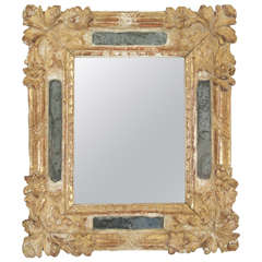 Small Carved and Gilt French Rococo Mirror, circa 1750