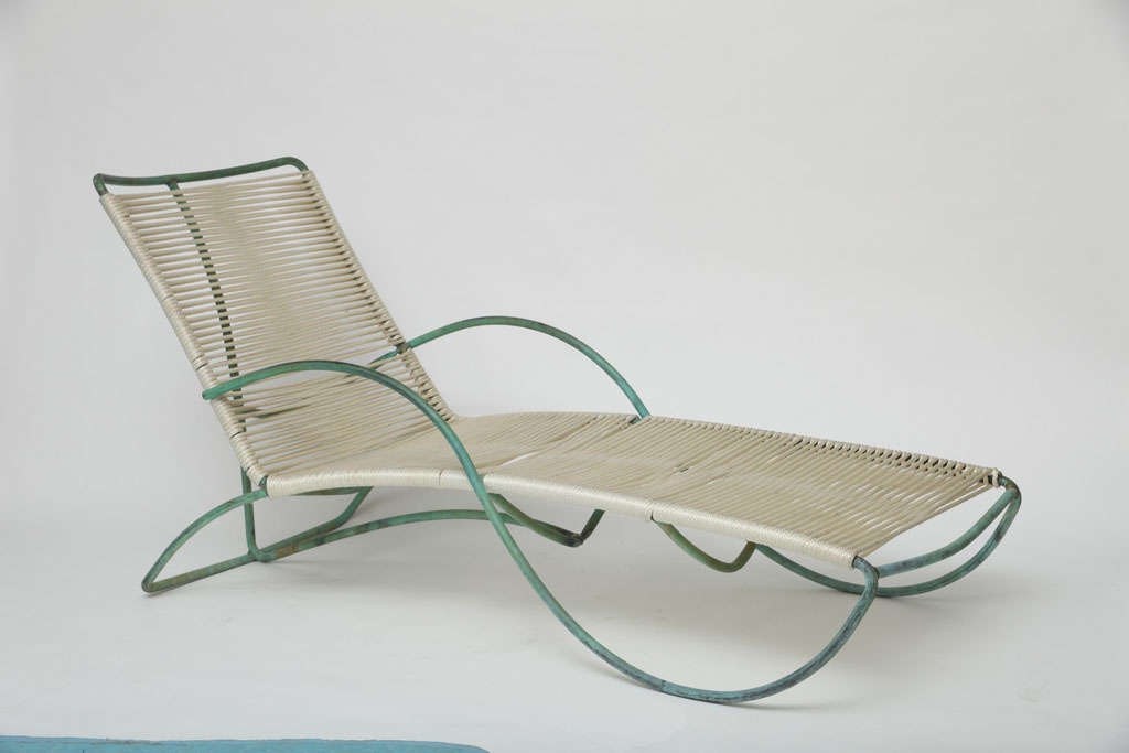 Pair of walter lamb chaise lounge chairs at 1stdibs for S shaped chaise lounge chairs