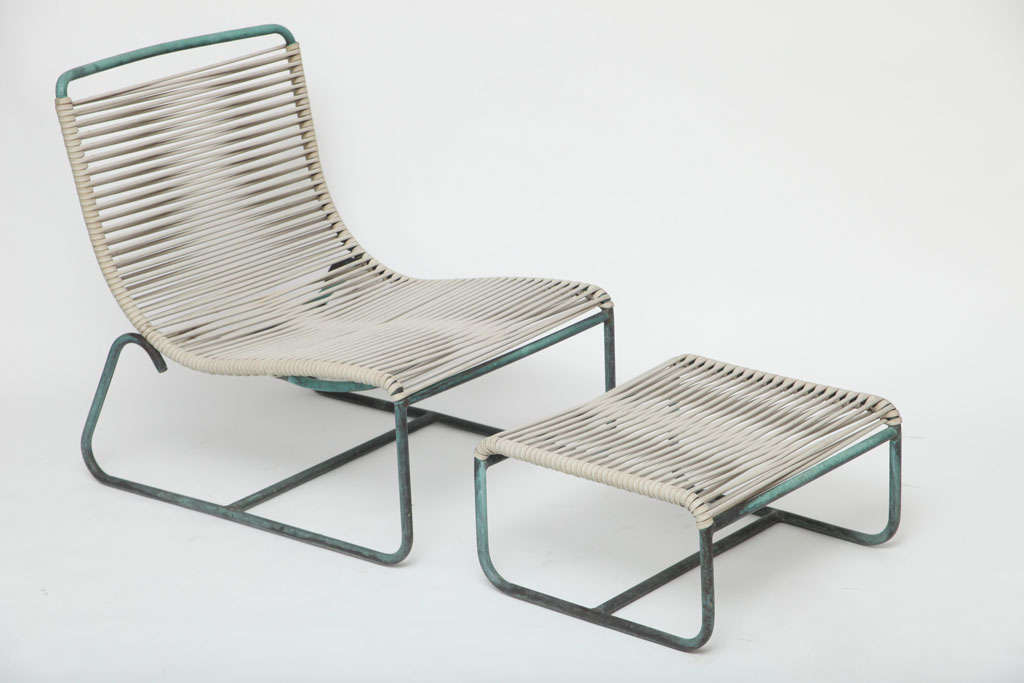 Walter Lamb Low Lounge Chair And Ottoman Br Manufactured By Brown Jordan