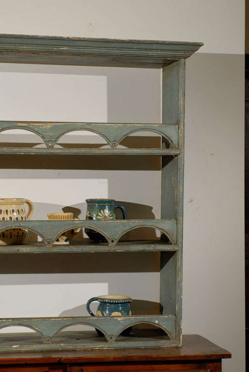 Wood Painted English Plate Rack with Semi Circular Fretting circa 1900 For Sale & Painted English Plate Rack with Semi Circular Fretting circa 1900 ...