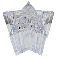 Hollywood Regency Style Lucite Ice Bucket with Star-Shaped Form