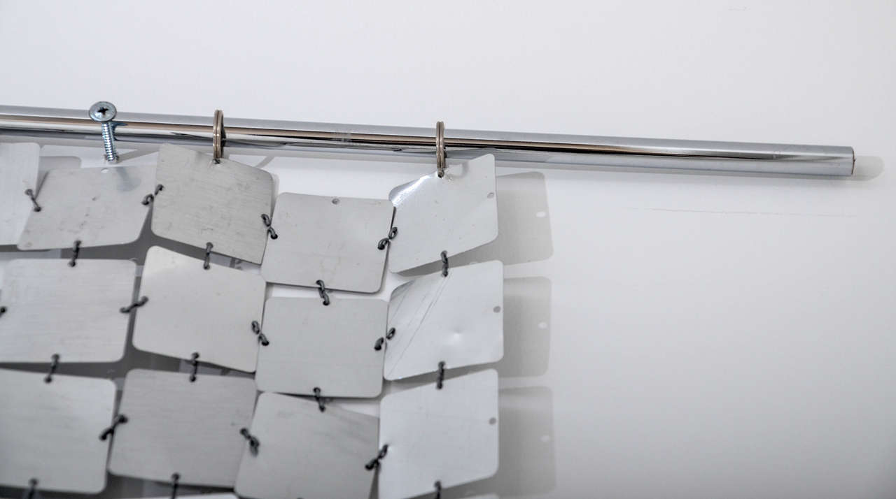 Swiss Paco Rabanne Silver Space Curtain For Sale