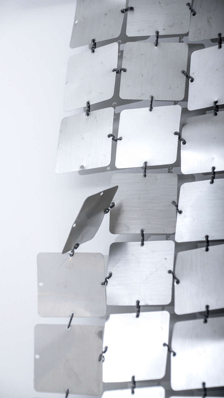 Aluminum Paco Rabanne Silver Space Curtain For Sale