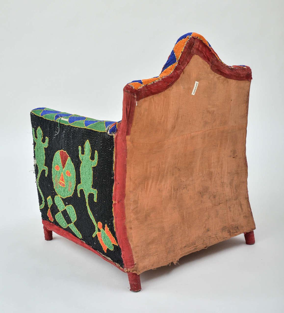 Beads African Beaded Yoruba Chair