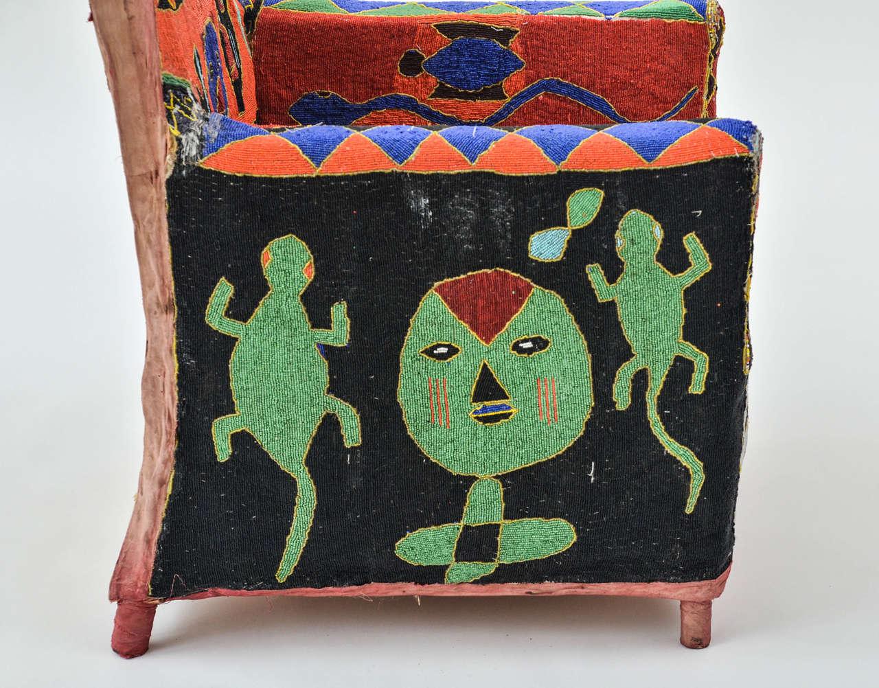 African Beaded Yoruba Chair 3
