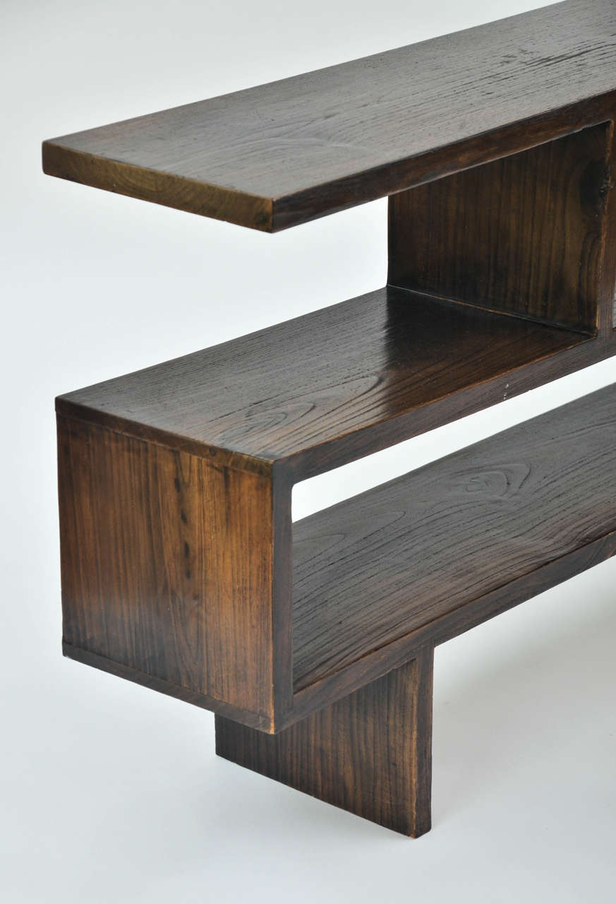 ebonized wood book or display shelves at 1stdibs Small Wood Display Shelves Display Shelves Plans