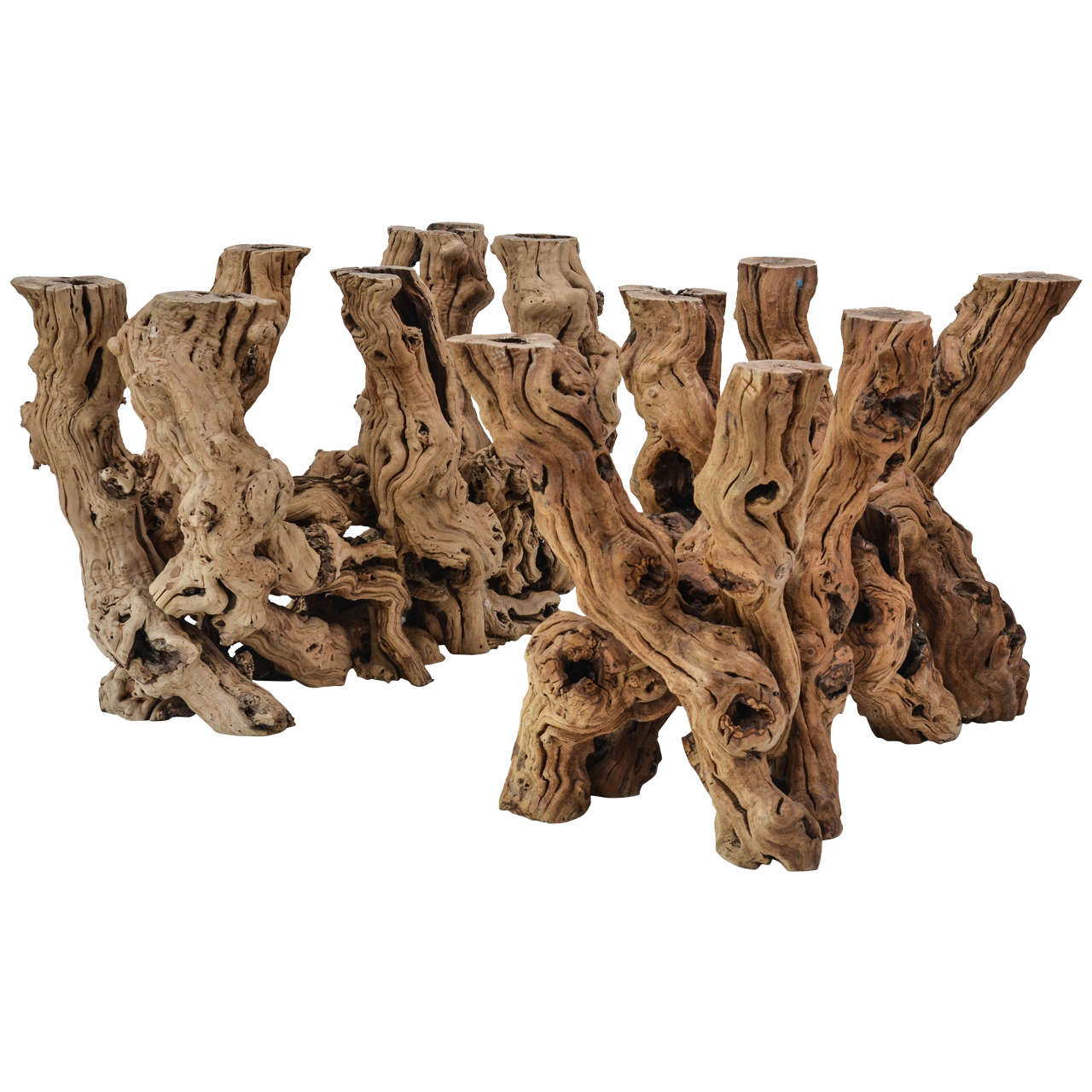 Amazing Pair Of Driftwood Table Bases 1